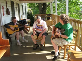 Jams Sessions are known to break out often at Blue Ridge Music